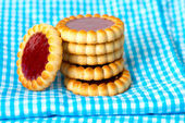 Strawberry biscuit — Stockfoto