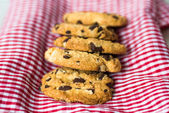 Scaglie di cioccolato biscotti — Foto Stock