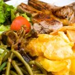 Juice roasted lamb and potatoes — Stok Fotoğraf #27288899