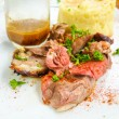 Juice roasted lamb chops — Foto Stock