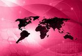 World map technology style — Stock Photo