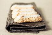 Sponge fingers sugar biscuit — Stockfoto