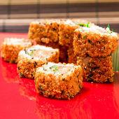 Tradiční japonské jídlo čerstvé sushi — Stock fotografie