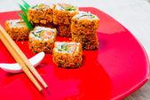 Fresh sushi traditional japanese food — Stockfoto