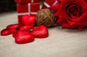 Valentine's Chocolate — Stock Photo