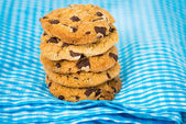 Chocolate chips cookies — Stok fotoğraf