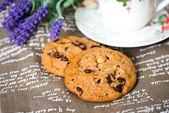 チョコレート チップ クッキーを飲み — ストック写真