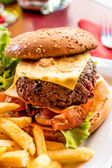 Cheese burger — Foto Stock