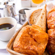 Coffee and croissants — Foto Stock