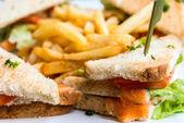 培根三明治 — 图库照片