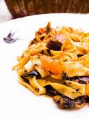 Spaghetti mit aubergine — Stockfoto