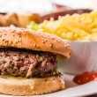 American cheese burger with fresh — Stock Photo