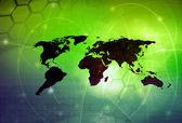 世界地図技術スタイル — ストック写真