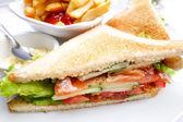 チキン サンドイッチ, — ストック写真