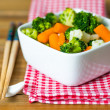 Bowls of variety vegetables — Stockfoto
