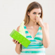 Sick woman using tissue — Stock Photo #33928471