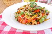 Wok-plate of asian cuisine — Stock Photo