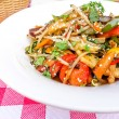 Wok-plate of asian cuisine — Stock Photo
