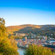 Stock Photo: View to old town of Heidelberg