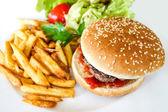 American cheese burger — Stockfoto