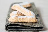 Sponge fingers sugar biscuit — Stock Photo