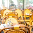 Empty coffee terrace in paris,France — Stock Photo #35455755