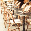 Empty coffee terrace in paris,France — Stock Photo #35455771