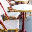 Empty coffee terrace in paris,France — Stock Photo #35455827