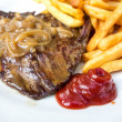 Juicy steak beef meat — Stock Photo #35459573