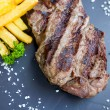 Stock Photo: Juicy steak beef meat