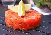 Salmon and lemon — Stock Photo