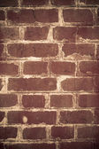 Old red brick wall — 图库照片