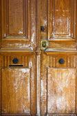 деревянная дверь грандж текстуры — Стоковое фото