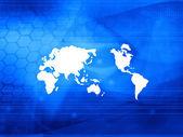 Världen karta teknik styl — Stockfoto