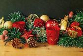 Old fashioned christmas decoration — Stock Photo