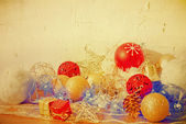 Old fashioned christmas decoration — Stock Photo