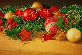 老式圣诞节装饰 — 图库照片
