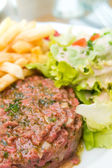 Classic steak tartare — Stock Photo