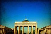 Retro style Brandenburg Gate — Stock Photo
