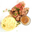 Foto Stock: Juice roasted lamb chops