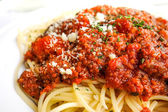 Tasty pasta-Italian meat sauce pasta — Stock Photo