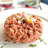 Tasty Steak tartare — Stock Photo