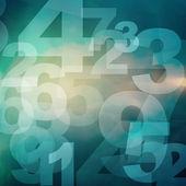 Numery w stylu retro — Zdjęcie stockowe
