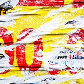 Alte plakate grunge texturen — Stockfoto