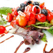 Delicious fresh tomatoe salad — Stock Photo
