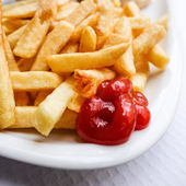 Golden French fries — Stock Photo