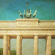 Stock Photo: Retro Brandenburg Gate