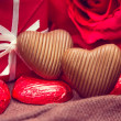 Stock Photo: Red and white gift box