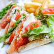 Sandwich with chicken — Stock Photo #41302933