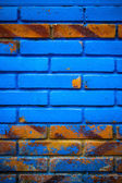 Blue and Brown grungy wall — Stockfoto